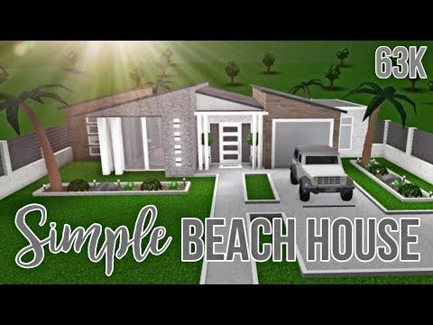 Bloxburg Simple Beach House 63k No Gamepasses Youtube