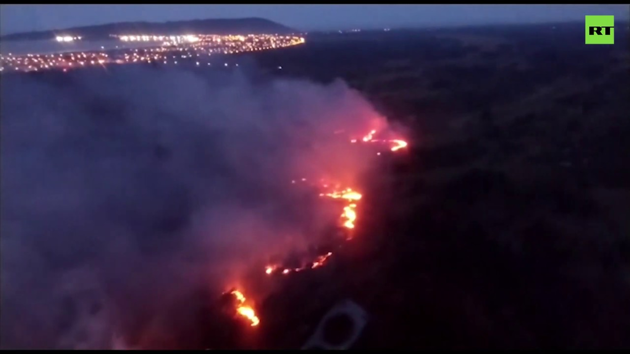 Image result for Fires spread outside the Amazon due to dry weather