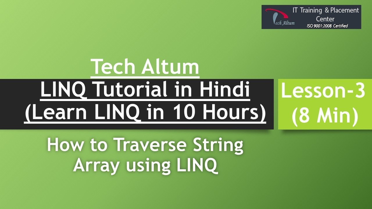 LINQ to Array | how to traverse array in linq