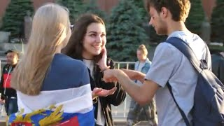 How to Hold a Girl's Hand   Russian Girls Prank   FIFA World Cup 2018