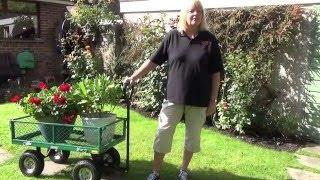 Wózek ogrodowy ze stalowej siatki