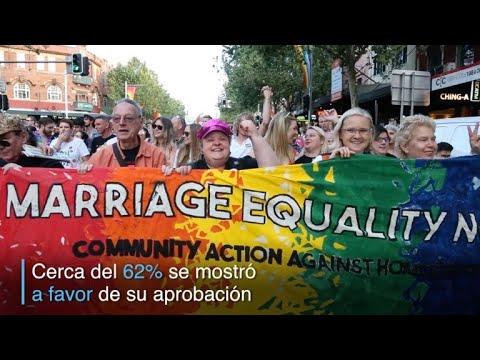 Australianos celebraron 'sí' popular al matrimonio homosexual