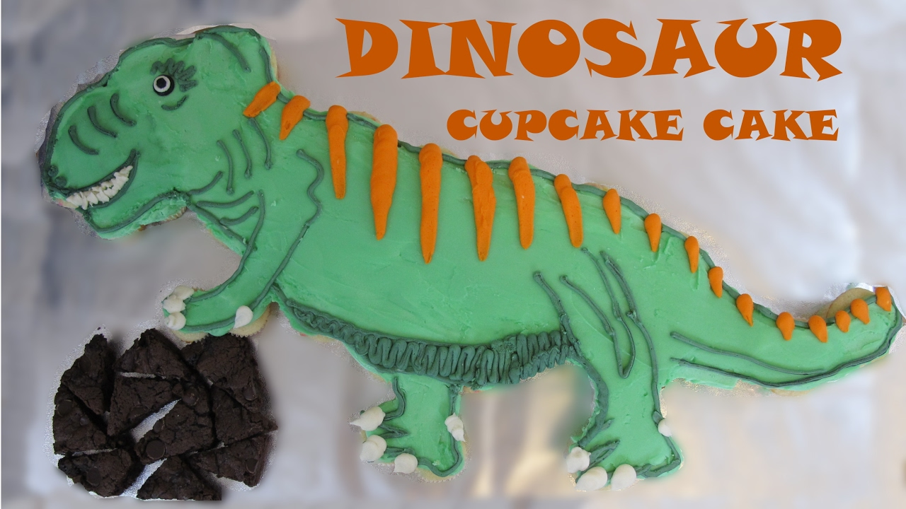 How To Make A Dinosaur Cupcake Cake Pull Apart Cupcake