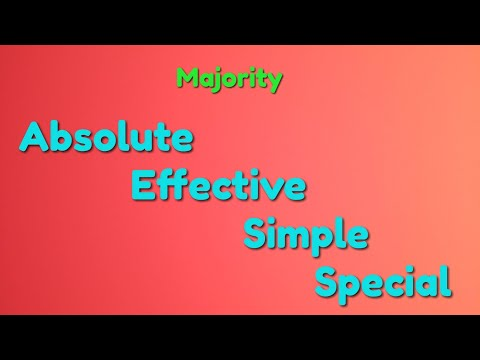 Absolute, Effective, Simple And Special majority