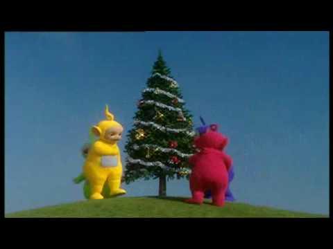 Teletubbies   -  Ein Weihnachtsbaum.