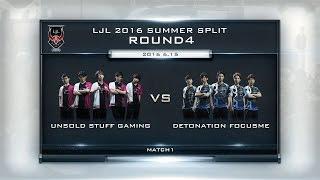 LJL 2016 Summer Split Round4 Match1 Game1 USG vs DFM