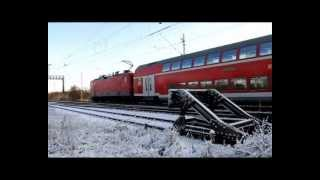 Züge im Schnee Bad Oldesloe 05.12.2012