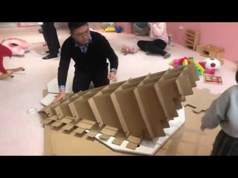 CHARPAPA 第二代溜溜畫滑梯組裝影片(滑梯組裝) HD