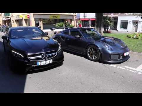 Supercars & Superyachts in St Tropez (GT2 RS, Aquarius, ...)