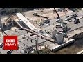 Miami rescue workers search for survivors after bridge collapse - BBC News Clockwise News – News Per Second