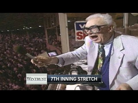 MIA@CHC: Harry Caray sings during 7thinning stretch