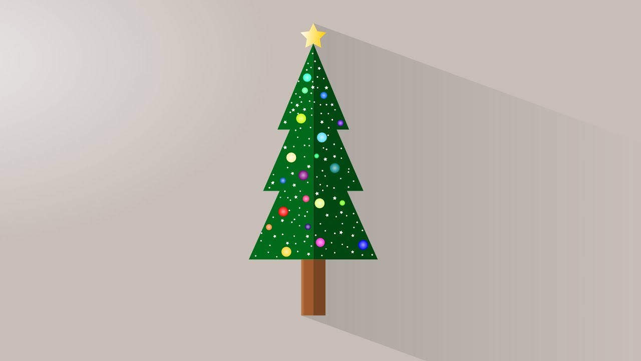 Christmas Tree Vector Graphic Inkscape Tutorial Youtube
