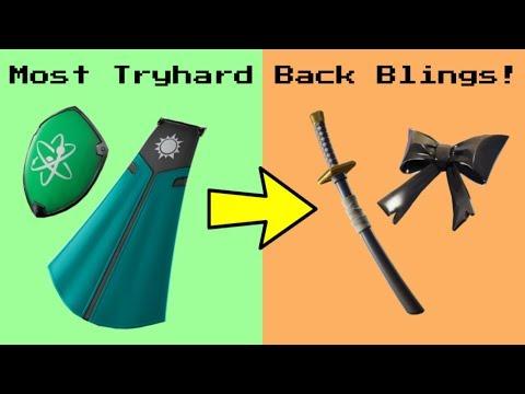 Top 10 Most TRYHARD BACK BLINGS In Fortnite!