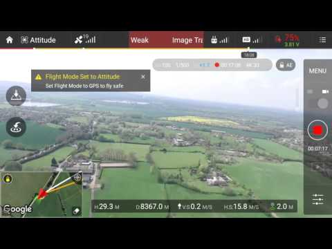 Dji phantom 3 professional 29500 feet  max distance test in ce mode 9 kilometres  5.5 miles
