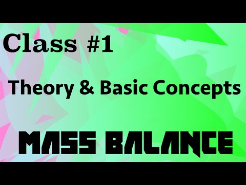Theory and Basic Concepts in Mass Balance // Mass Balance Class 01