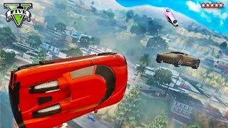 GTA 5 FIRST PERSON Vehicle Stunts and Jumps | Epic Building Jumpers Race | GTA V Funny Moments
