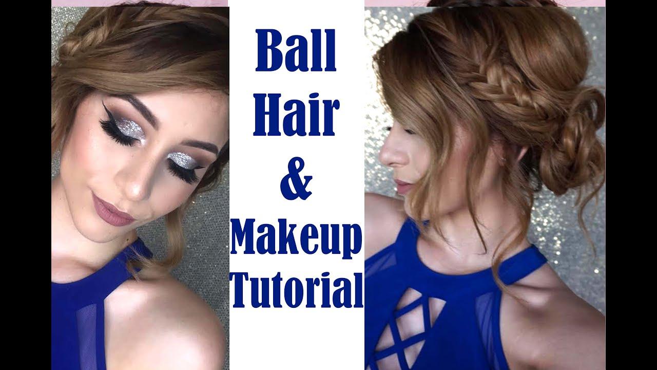military ball hair & makeup | talk through tutorial