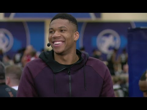 Giannis Antetokounmpo Full Interview | May 17, 2018 | 2018 NBA Draft Combine Day 1