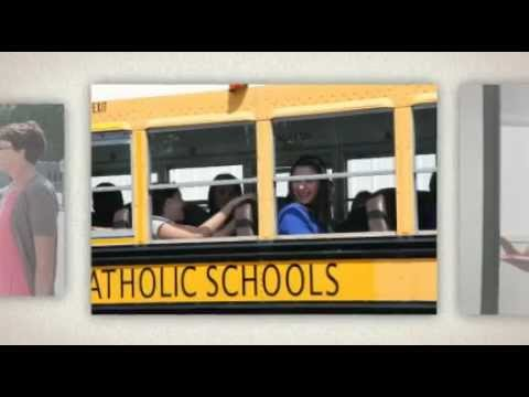 End of the first day of school at Christ the King Catholic High School in Mooresville, N.C.