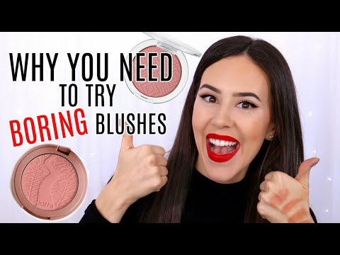Why Boring Blushes Are Best! || Favorite Blushes 2017