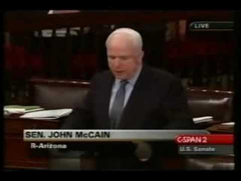 McCain argues for Obama