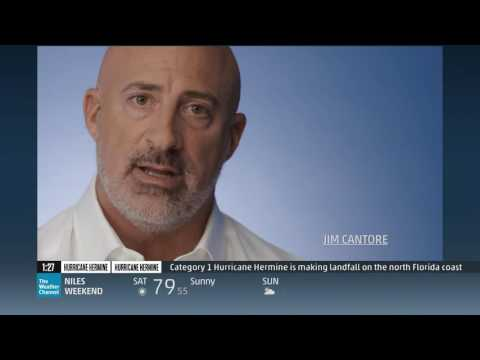 Hurricane Hermine makes landfall weather channel coverage 2016 HD