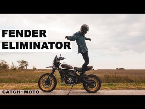 NRC Fender Eliminator Install On A Ducati Scrambler Desert Sled