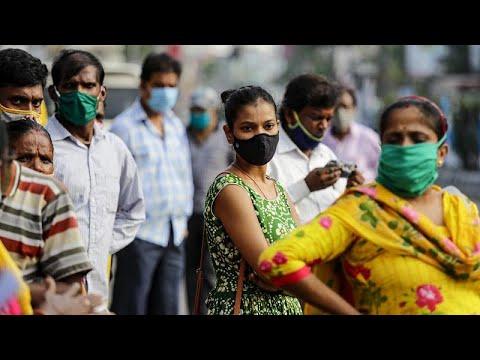 India alcanza los siete millones de casos de coronavirus pero sin superar a Estados Unidos