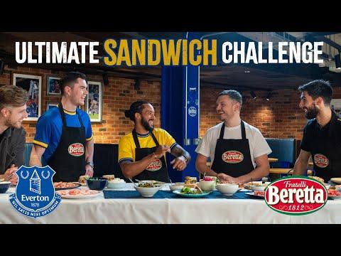 ULTIMATE SANDWICH CHALLENGE! | THEO WALCOTT, ANDRÉ GOMES & MICHAEL KEANE X FRATELLI BERETTA