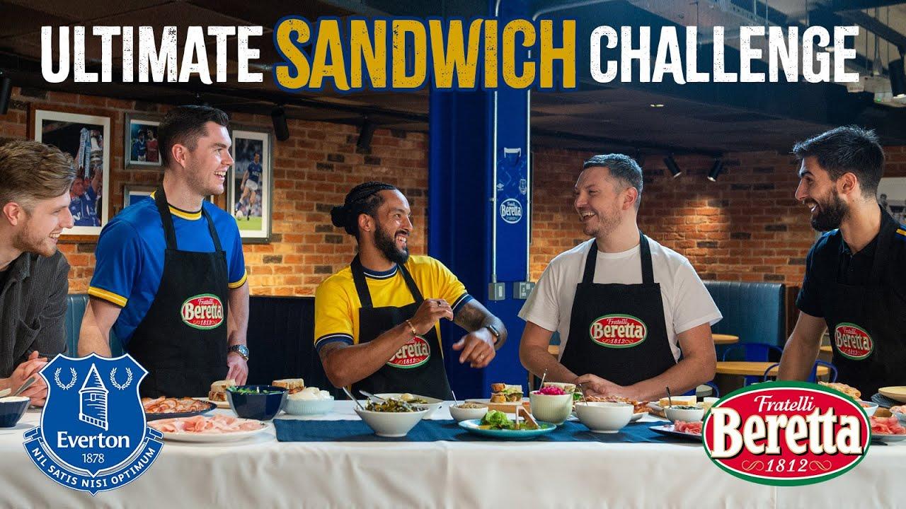 ULTIMATE SANDWICH CHALLENGE!   THEO WALCOTT, ANDRÉ GOMES & MICHAEL KEANE X FRATELLI BERETTA