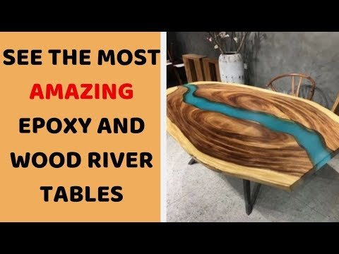 5 BEST Woodworking DIY Projects And Products - Epoxy Resin And Wood River Table