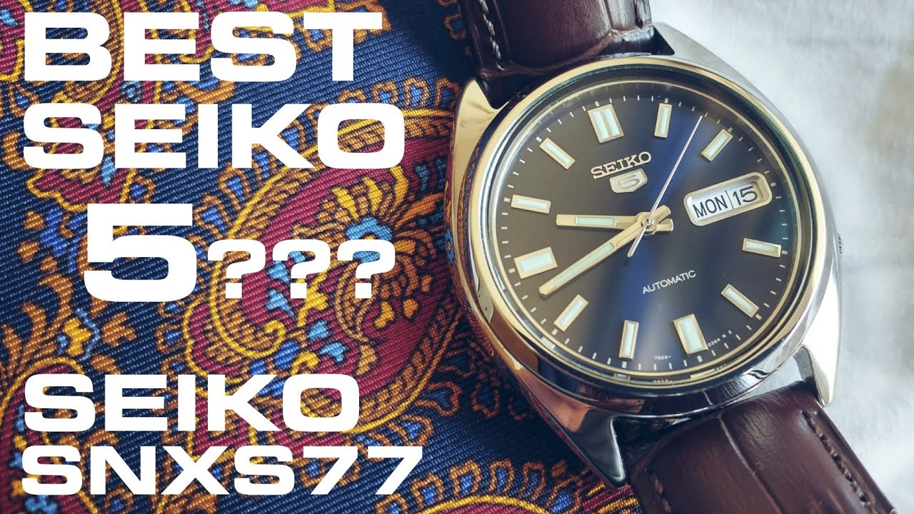 Best Automatic Watches >> Best Seiko 5? SNXS77 review - YouTube