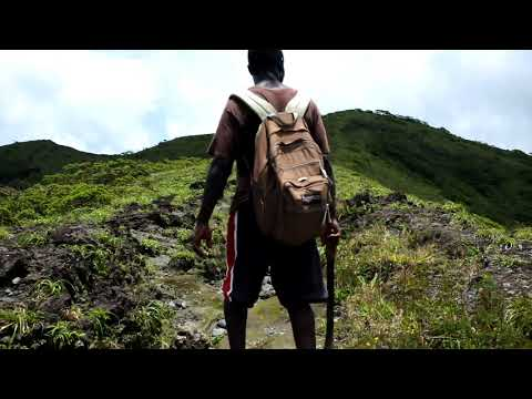 Hiking La Soufriere Volcano St. Vincent and the Grenadines 2017