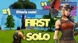 Fortnite Battle Royale ITA | Prima vittoria reale in solo in live [gameplay ita]