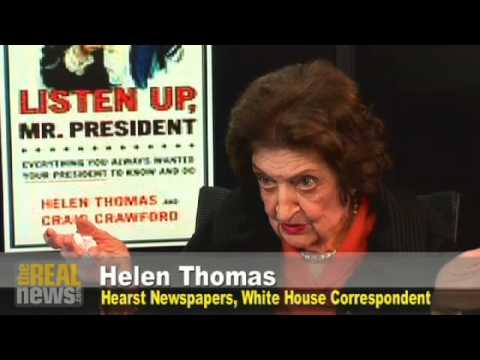 Helen Thomas on her one question for Obama
