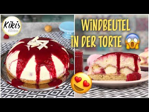 KINDERLEICHT: leckere WINDBEUTEL Torte - Mini Windbeutel mit köstlicher Creme und Himbeeren REZEPT