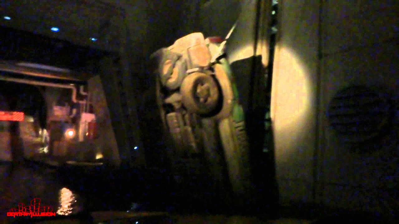 Jurassic Park In The Dark Onride Front Seat HD POV