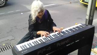 Natalie: Iconic Melbourne Piano Street Performer. [Untitled original piece.] (21/1/2014)