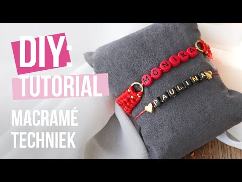 Sieraden maken: Crossed sennit macramé steek ♡ DIY