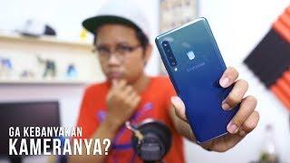 Kamera belakangnya Galaxy A9 2018 ada EMPAT BIJI cuy! Bisa buat nga...