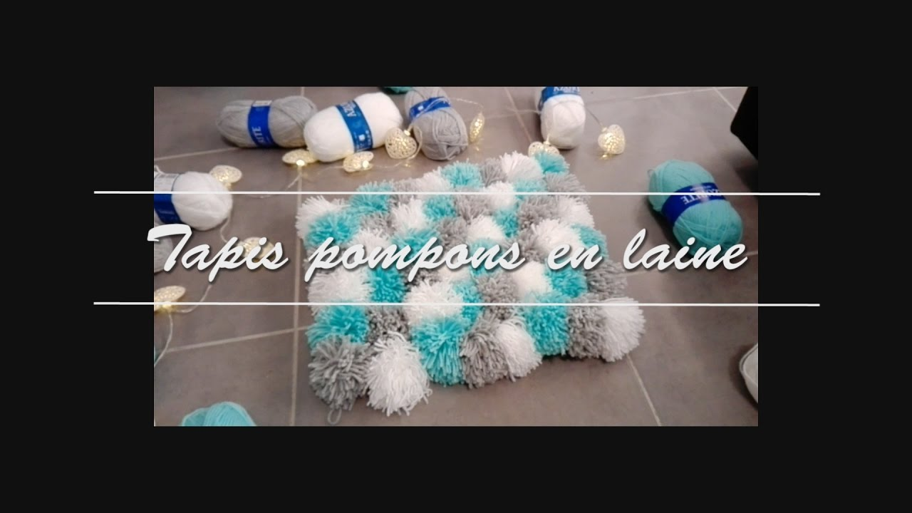 Diy Tapis En Pompons De Laine Action Youtube