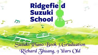 Ridgefield Suzuki School, Piano Book 3 Graduation, Teacher Anh Rozman