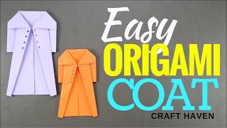 How to Make Easy Origami Coat - DIY Paper Dress/Coat Tutorial - Simple Origami Dress For Beginners