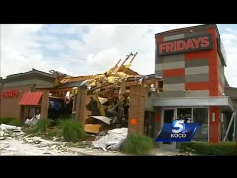 Unexpected Late Season Tornado Hits Tulsa Destroys Buildings