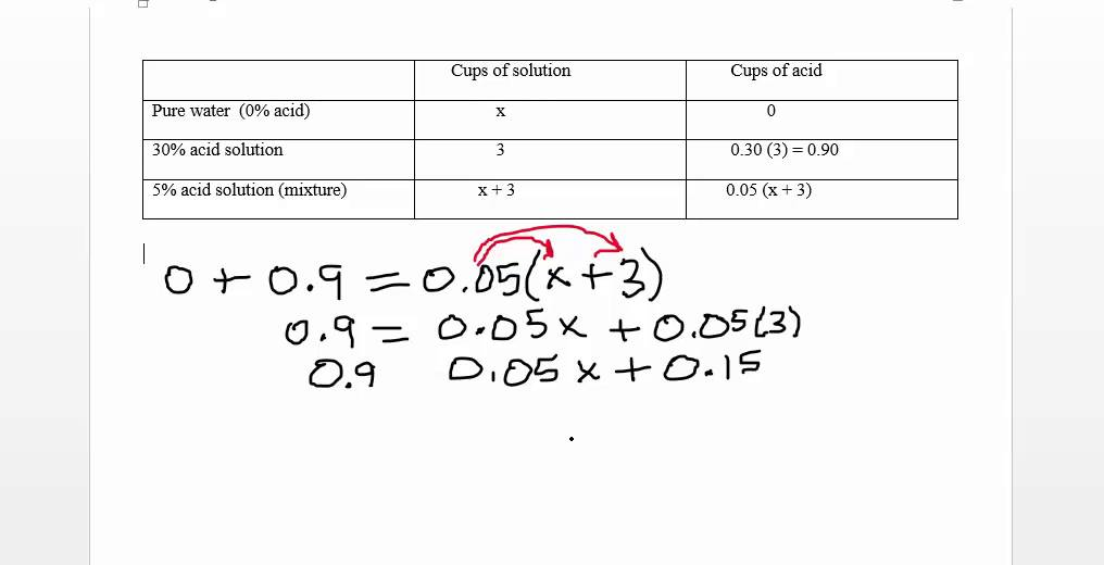 Math 0070 Sec 2 6 Worksheet Problem 9 Dilution Problem YouTube – Dilutions Worksheet