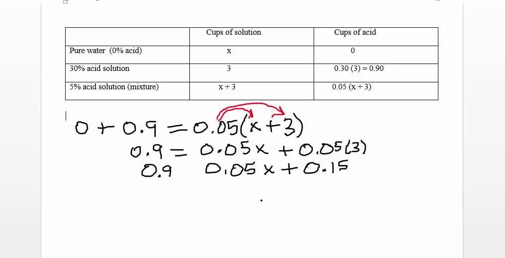 Math 0070 Sec 2 6 Worksheet Problem 9 Dilution Problem YouTube – Problem Solution Worksheet