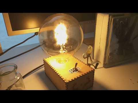 Homemade desk lamps