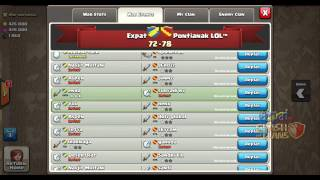 2014-12-22 Clash of Clans - Clan Wars - Clan Expat vs Clan Pontianak LOL