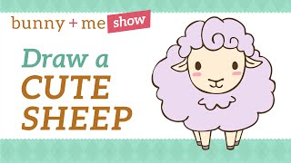 Easy Drawing Tutorial - How to draw a cute Sheep