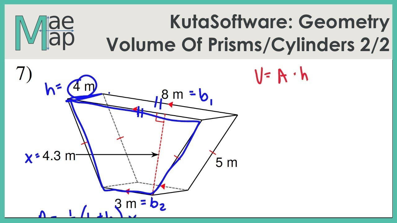 medium resolution of KutaSoftware: Geometry- Volume Of Prisms And Cylinders Part 2 - YouTube